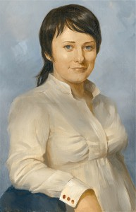 """Заказать портрет маслом с фотографии можно по электронной почте. """" Юлия"""",х/м"""