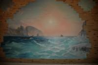 Художественная роспись служит изысканным и дорогим украшением для любого интерьера, в том числе и для бани.