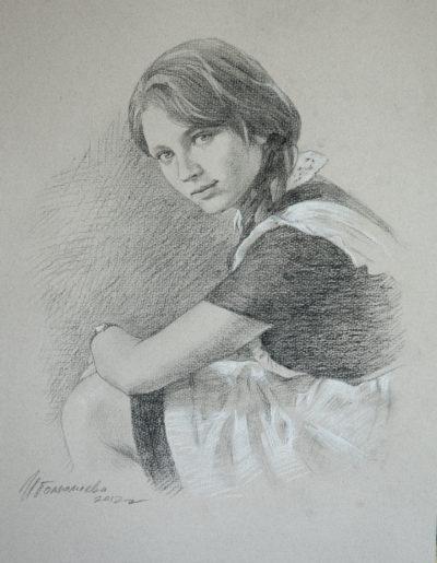 Портрет на заказ с черно-белой фотографии