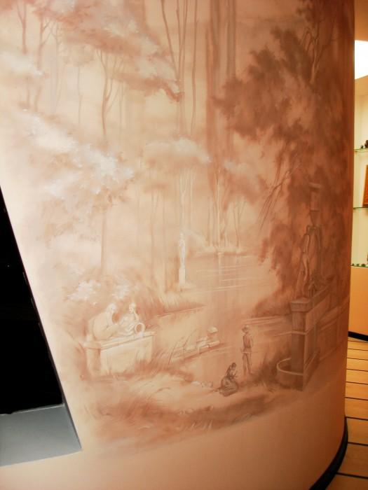 Данная роспись стен интересна своими фрагментами, но фрагменты связаны между собой.