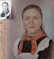 Цветной портрет по черно-белой фотографии