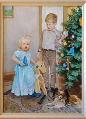 Картина на заказ. Семейный портрет.