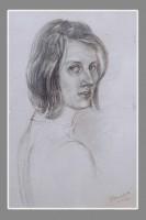 Автопортрет. графитовый карандаш, бумага