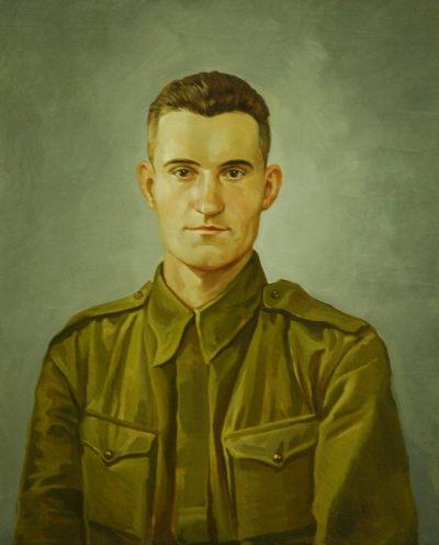 Портрет маслом на заказ с черно-белой фотграфии