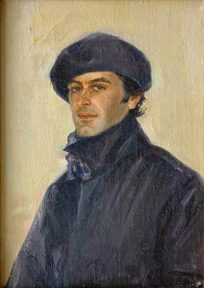 «Портрет композитора» Творческая работа,портрет с натуры. холст/картон/масло.