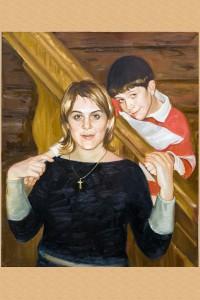Заказной портрет по фотографии маслом.