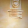Роспись интерьера часто связана с сочетанием плоского изображения и объемной формы.