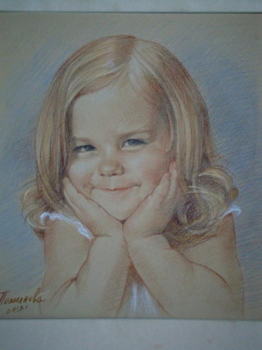 Портрет Леры. бумага/пастель