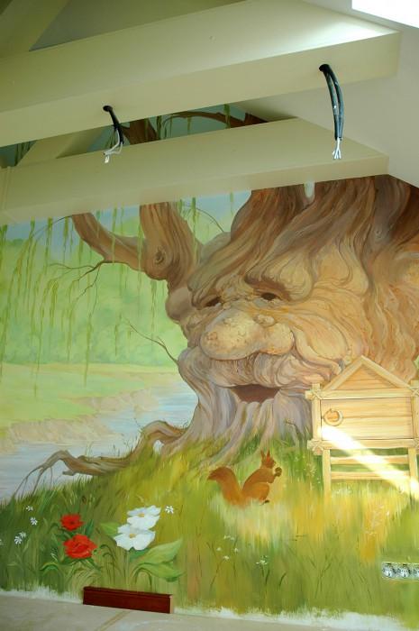 Роспись детской комнаты фрагмент