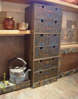 Роспись фасадов кухни,роспись мебели в стиле прованс