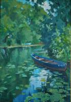 Картины заказать москве. Река Трубеж. холст на картоне, масло, 40-60