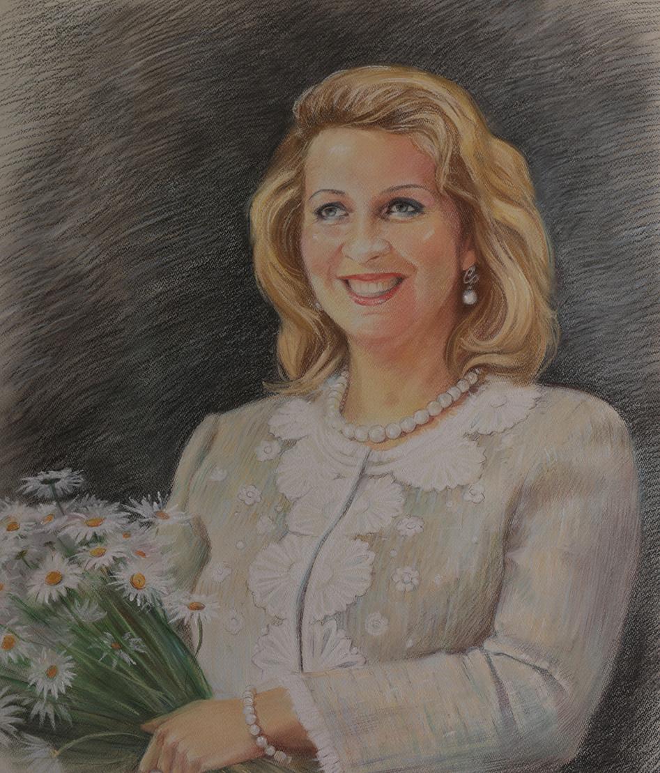 портрет пастелью Светланы Медведевой