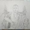 предварительный рисунок портрета